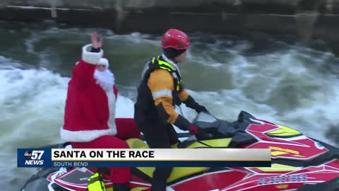 "13th annual ""Santa on the Race"" event held in South Bend"